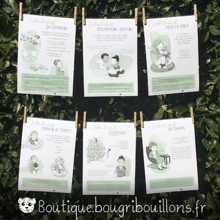 Affiches imprimées allaitement - Bougribouillons