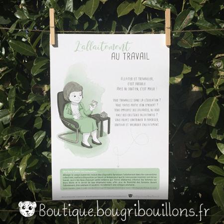 Affiche allaitement imprimée 6 - L'allaitement ça s'apprend - Bougribouillons