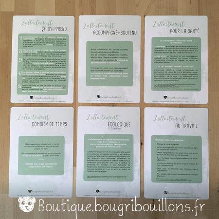 Photo 3 des fiches A5 sur l'allaitement - Bougribouillons