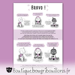 Bravo ou les compliments descriptifs et évalutatifs - Affiche - Affiche Bougribouillons Petite enfance