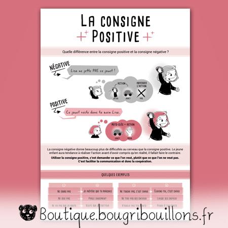 La consigne positive - Affiche Bougribouillons Petite enfance
