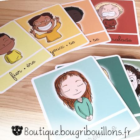 Les émotions - jeu de cartes - Photo 2 - Bougribouillons