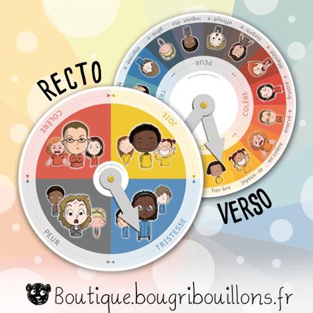 Roue des émotions recto-verso - Bougribouillons