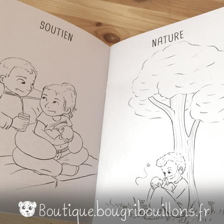 Cahier de coloriage Bougribouillons - La bienveillance en couleurs - Extrait 2
