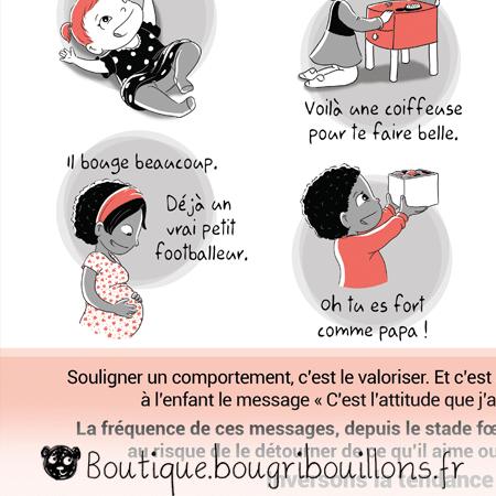 Stéréotypes du genre - Extrait 2 - Affiche Bougribouillons Petite enfance
