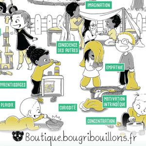Jeu libre partie 1 - Extrait - Affiche Bougribouillons Petite enfance