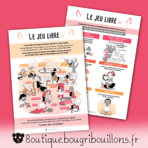Jeu libre - V2 - duo - Affiche Bougribouillons Petite enfance