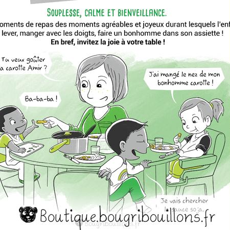 Extrait 2 des affiches - L'alimentation - Affiche Bougribouillons Petite enfance