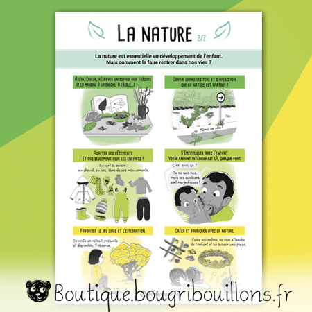 La nature - partie 2 - Affiche Bougribouillons Petite enfance