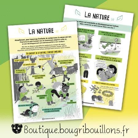La nature - duo - Affiche Bougribouillons Petite enfance
