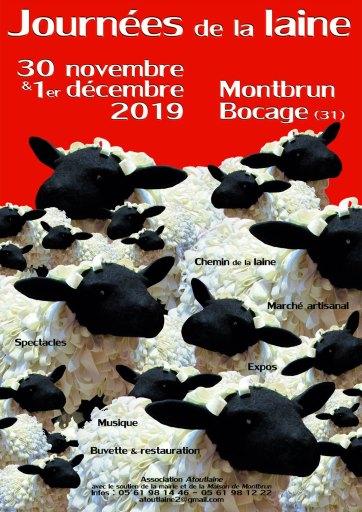 Journées de la laine 2019 Montbrun-Bocage affiche