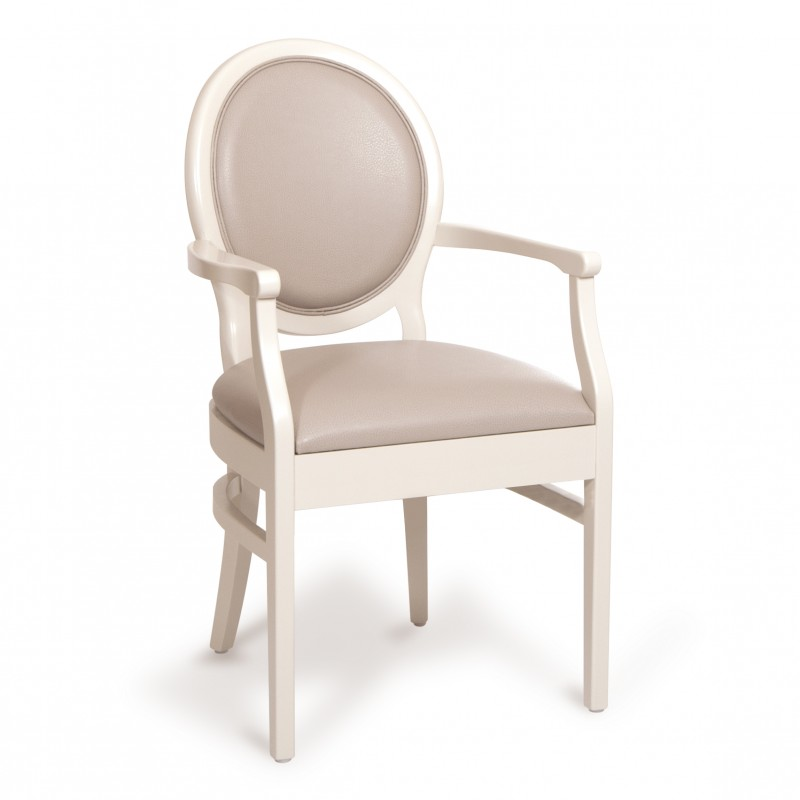 chaise avec accoudoirs premium c medaillon