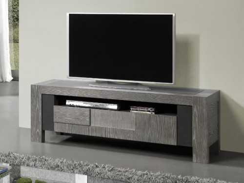 meuble tv volcan en chene avec plateau