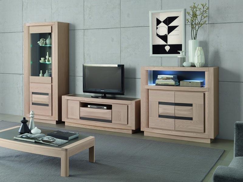 meuble tv marina en chene avec niche