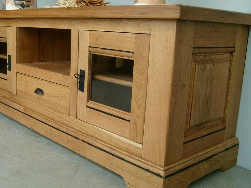 meuble tv rustique berry 2 portes 1