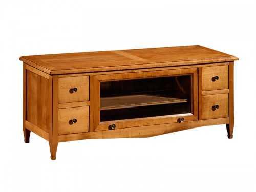 meuble tv en merisier massif 4 tiroirs