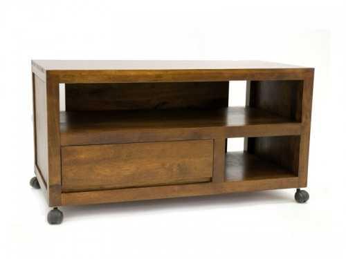 meuble tv roulant oscar en bois de