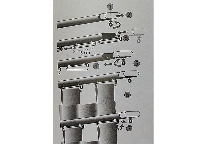 12 glisseurs pour rideau a pattes