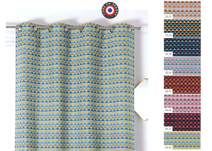 rideau selena polyester coton 140x245 pret a poser oeillets ronds