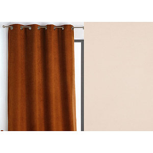 rideau wall street polyester 145x260 pret a poser oeillets ronds