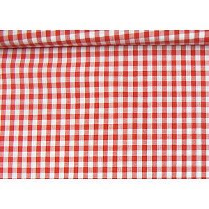 tissu vichy rouge et blanc grands carreaux