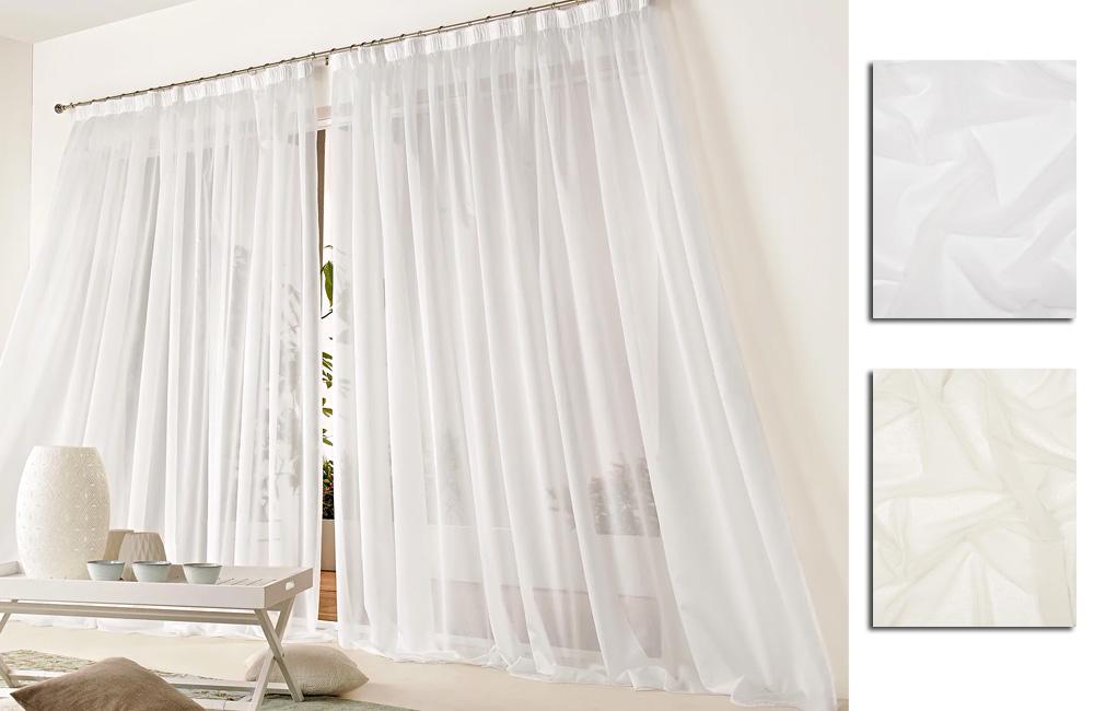 details sur voilage linette blanc 300x260 special baie vitree a galon fronceur