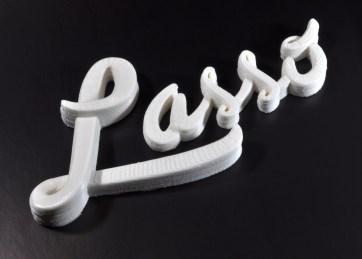 Peças feitas de plástico PLA.