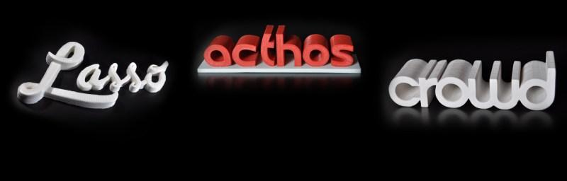 Logos impressos em 3D
