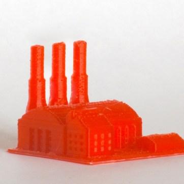 Peça impressa em plástico PLA.