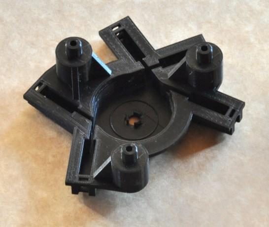Peça protótipo para mecanismo de um veículo.