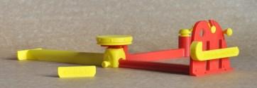 Peças impressas em plástico PLA.