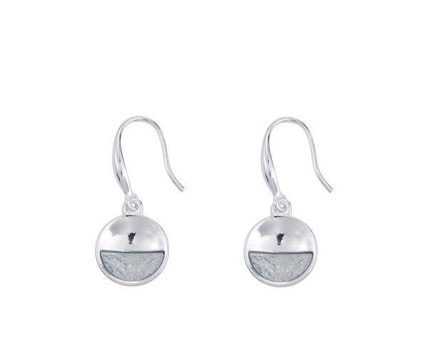 Boucles d'oreilles Cercles - Gris Argenté