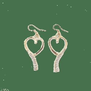Boucles d'oreilles coeur ardent