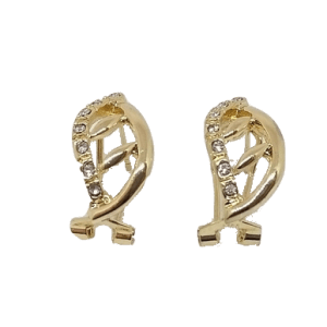 Boucles dBoucles d'oreilles flammes ajourées dorées'oreilles flammes ajourées dorées