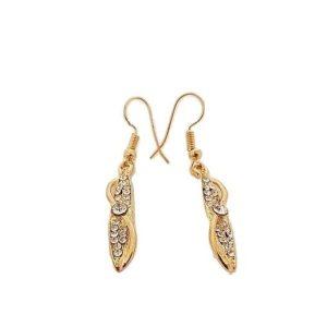 Boucles d'oreilles larmes lumineuses dorées