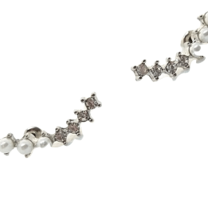 Boucles d'oreilles strass et perles