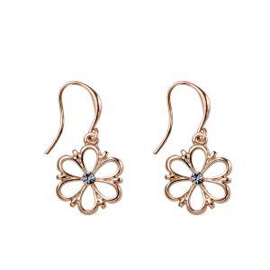 Boucles d'oreilles fleur rose gold