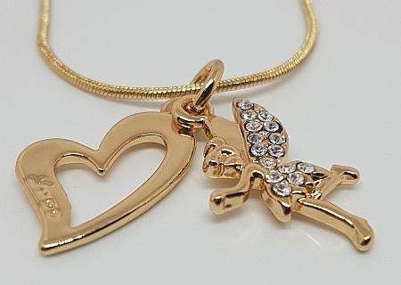 Chaîne dorée avec pendentif collection fée detail