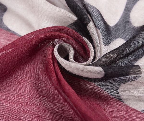 Foulard XL rouge et noir zoom