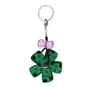 Porte clé fleur vert femme