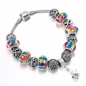 Bracelet charms perles colorées