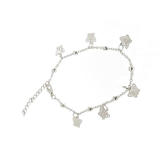 bracelet cheville papillon