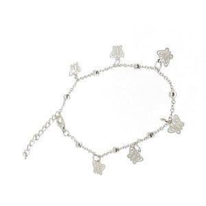 Bracelet cheville papillons