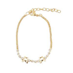 Bracelet chic doré coeur