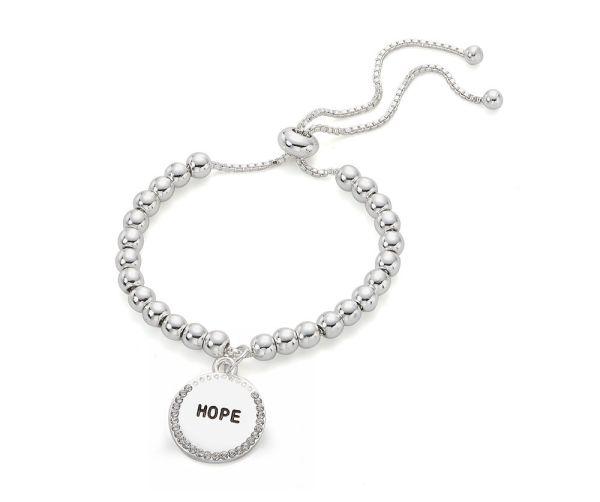 Bracelet message Hope – argenté