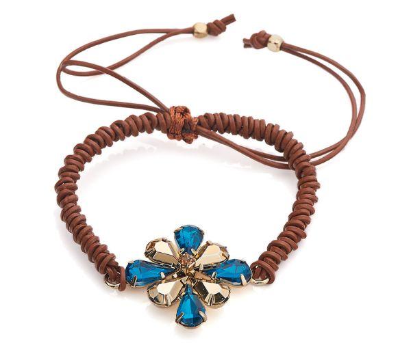 Bracelet porte bonheur marron