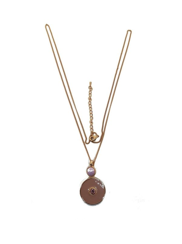 Collier cercle rose