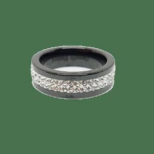Bague noire céramique T54