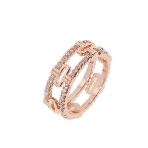 Bague rose gold cristal