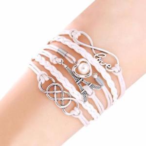 Bracelet Blanc Love Tour Eiffel